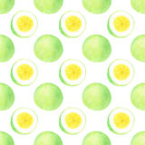 Passion fruit. Seamless watercolor pattern Royalty Free Stock Photography