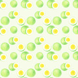 Passion fruit. Seamless watercolor pattern Stock Photo