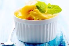 Passion fruit sherbet Royalty Free Stock Photos