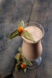 Passion fruit smoothie Stock Photos