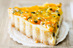Passion Fruit Tart. Dessert dish Stock Image