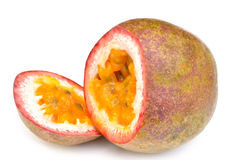 Passion fruit on a white background Stock Image