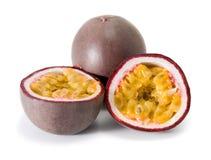 Passion fruit. On white background Stock Image