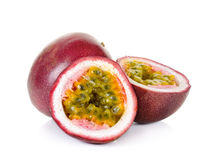 Passion fruit  on the white background.  Stock Image