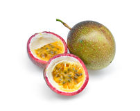 Passion fruit  on white Royalty Free Stock Photos