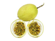 Passion fruit whole fruit and opened Stock Photography