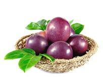 Passion fruits isolated on white background Stock Image