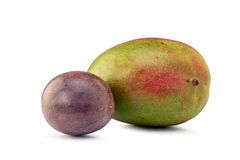 Passion Fruits and Mango Stock Image