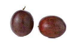Passion fruits on white Stock Photos