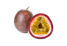 Passion fruits on white Royalty Free Stock Image