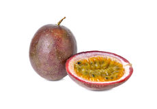 Passion fruits on white Stock Images