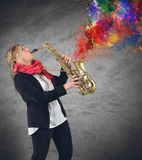 Passion for music Stock Images
