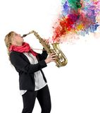 Passion for music Stock Image