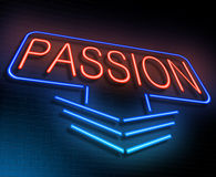 Passion neon concept. Stock Photo