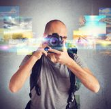 Passion for photography Stock Images