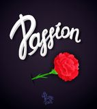 Passion poster design Royalty Free Stock Photos