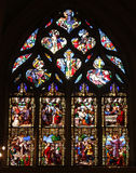 Passion and Resurrection of Christ. Stained glass, Church of St. Gervais and St. Protais, Paris royalty free stock photos