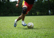 Passion for soccer. Anonimous player soccer Stock Photography