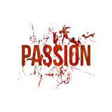 Passion Typographic Grunge Design Pattern Royalty Free Stock Images
