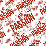 Passion Typographic Grunge Design Pattern Royalty Free Stock Photo