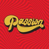Passion. Vector handwritten lettering Royalty Free Stock Photo