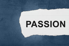 Passion with white paper tears Royalty Free Stock Images