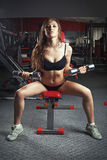 Passion woman in sports hall Royalty Free Stock Photography