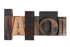 Passion, word written in letterpress type blocks Stock Image