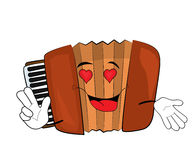 Passionate Accordion illustration Stock Photography