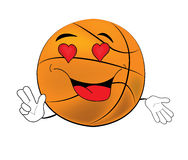 Passionate  Basketball ball cartoon Royalty Free Stock Photo