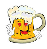 Passionate beer cartoon Stock Photo