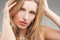 Passionate blonde woman Royalty Free Stock Photo