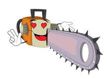 Passionate Chainsaw cartoon Stock Photography