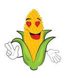 Passionate Corn cartoon Stock Image
