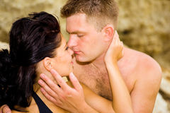 Passionate couple. Portrait of a passionate couple stock photography