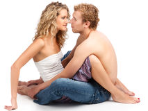 Passionate couple. Royalty Free Stock Images