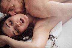 Passionate couple is having sex Stock Photography
