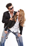 Passionate couple looking each other royalty free stock photos