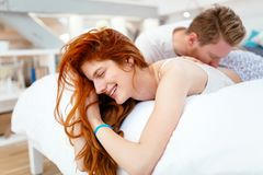 Passionate couple making love royalty free stock photography