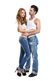 Passionate couple in studio Royalty Free Stock Photo