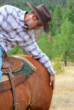 Passionate cowboy Royalty Free Stock Photo