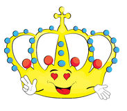Passionate crown cartoon Royalty Free Stock Photography