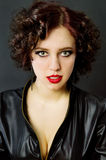 Passionate curly girl Stock Photography