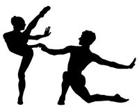 Passionate dance. Couple in a passionate latin dance Stock Photography