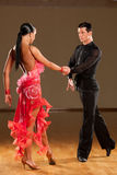 Passionate dancers dancing rumba Royalty Free Stock Photography