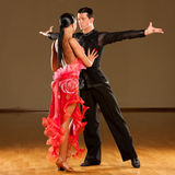 Passionate dancers dancing rumba Stock Photos