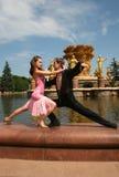 Passionate dancing Stock Image