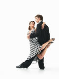Passionate dancing couple on white background Stock Photo