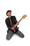 Passionate guitar solo Stock Photography