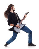 Passionate guitarist Royalty Free Stock Image